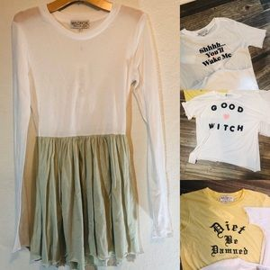 Wildfox 4for1 dress and top bundle size Small NWT